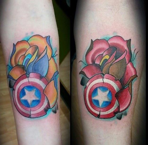 105 Captain America Tattoo Designs and Ideas for Marvel Superhero ...