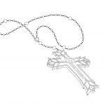 Free Tattoo Illustration – Rosary Beads