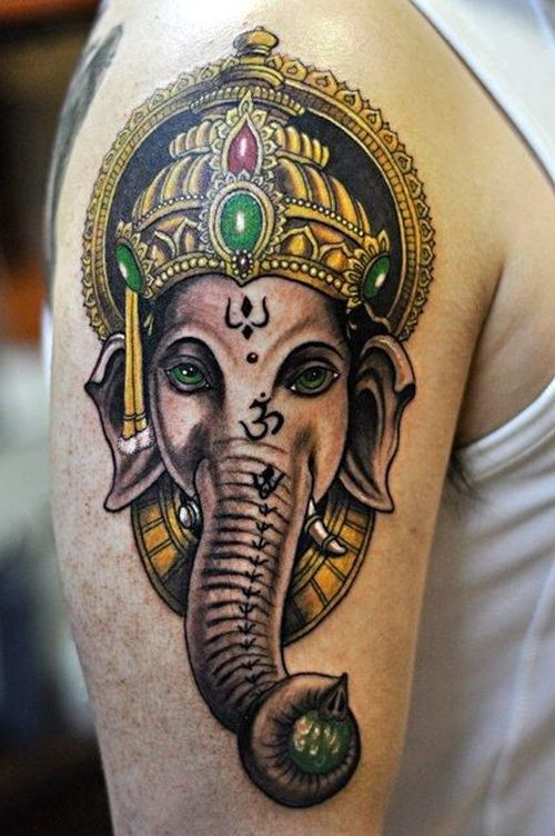 50 amazing lord ganesha tattoo designs and meanings tattoo me now. Black Bedroom Furniture Sets. Home Design Ideas