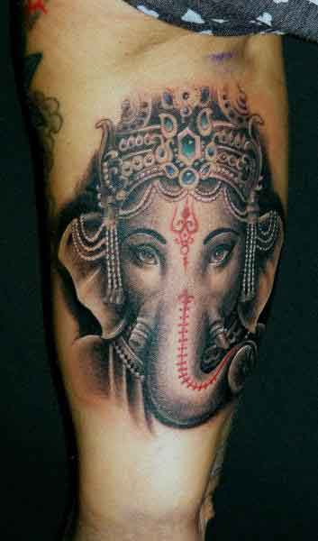 51802cdab 50 Amazing Lord Ganesha Tattoo Designs and Meanings - Tattoo Me Now