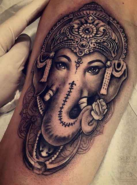 3ec70a559 50 Amazing Lord Ganesha Tattoo Designs and Meanings - Tattoo Me Now
