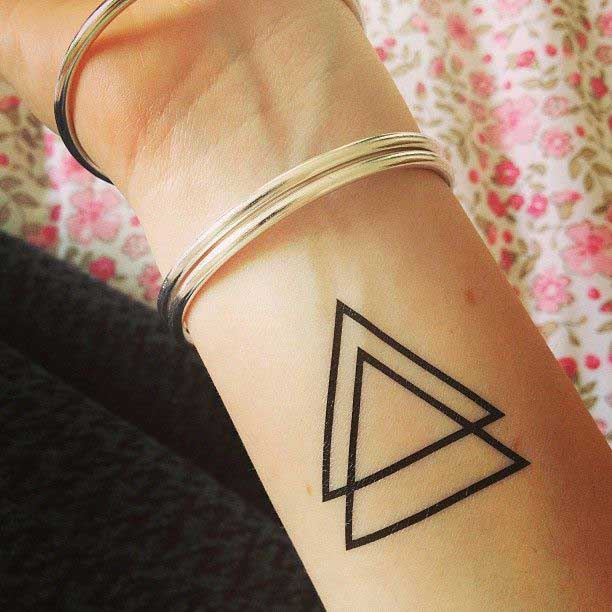 Triangle Tattoo Designs, Ideas and Meanings - All you need