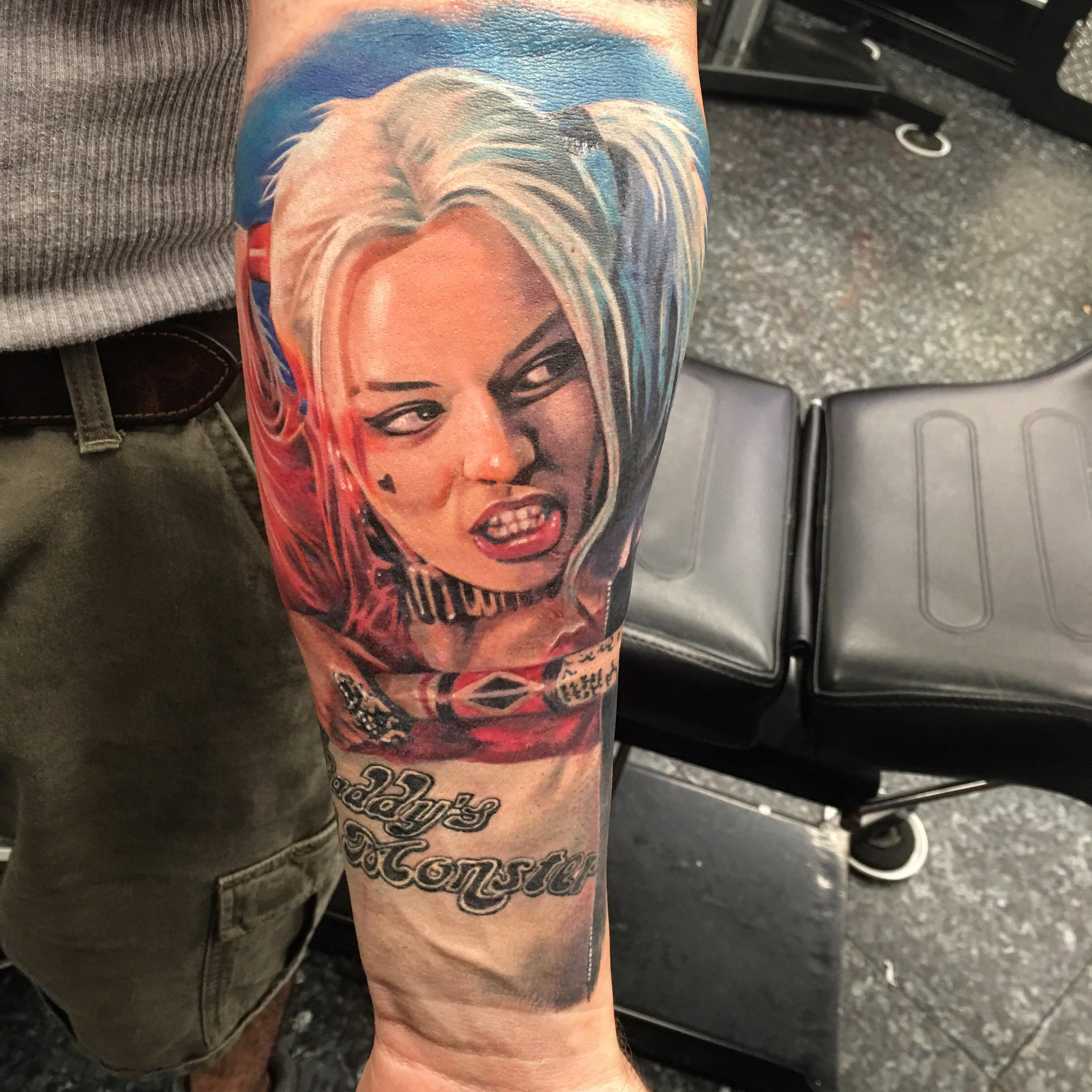 50 Amazing Harley Quinn Inspired Tattoo Designs And Margot Robbies