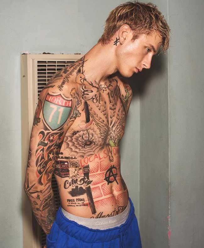 Meanings And Stories Behind Machine Gun Kelly S Tattoos Tattoo Me Now