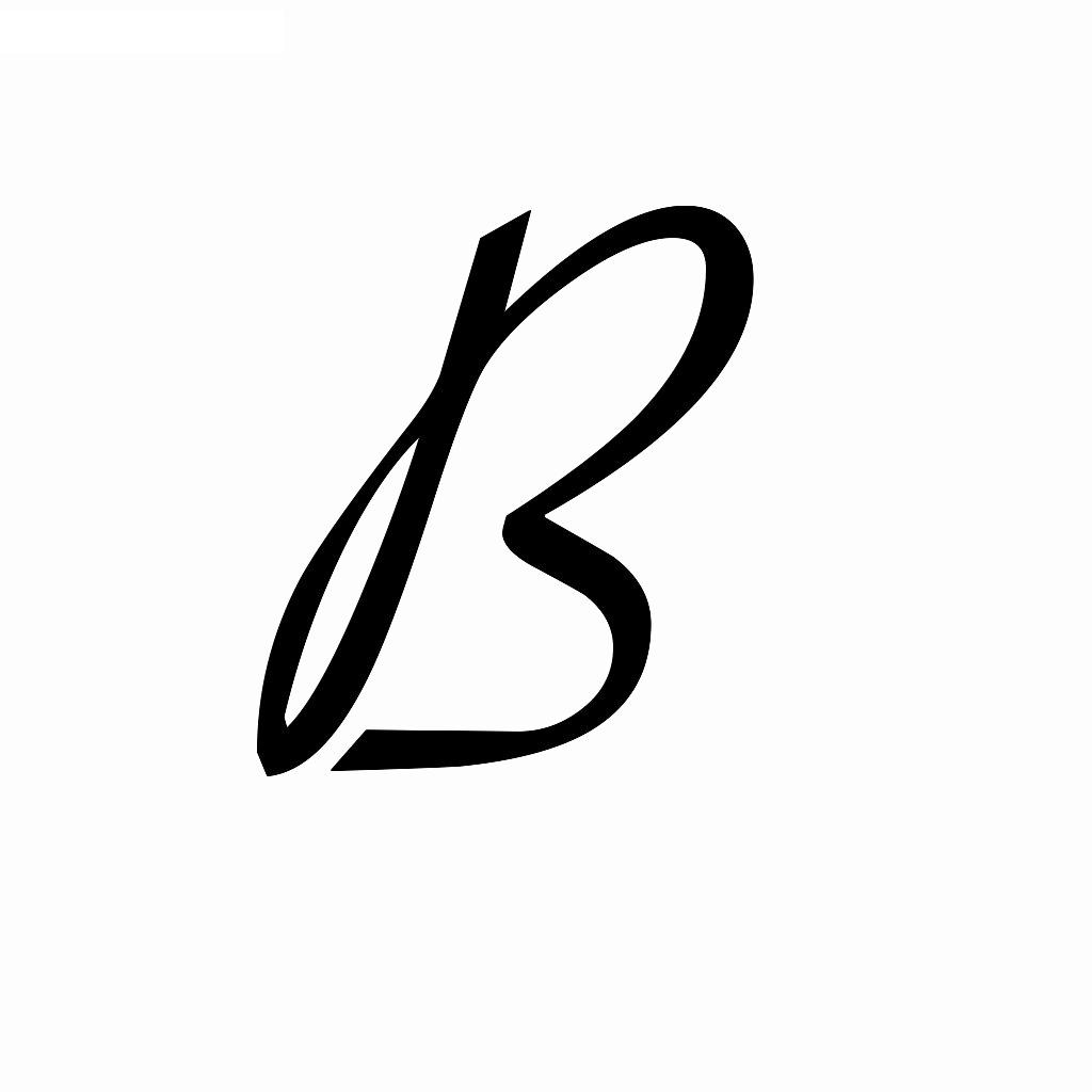 calligraphy lowercase b - 900×900
