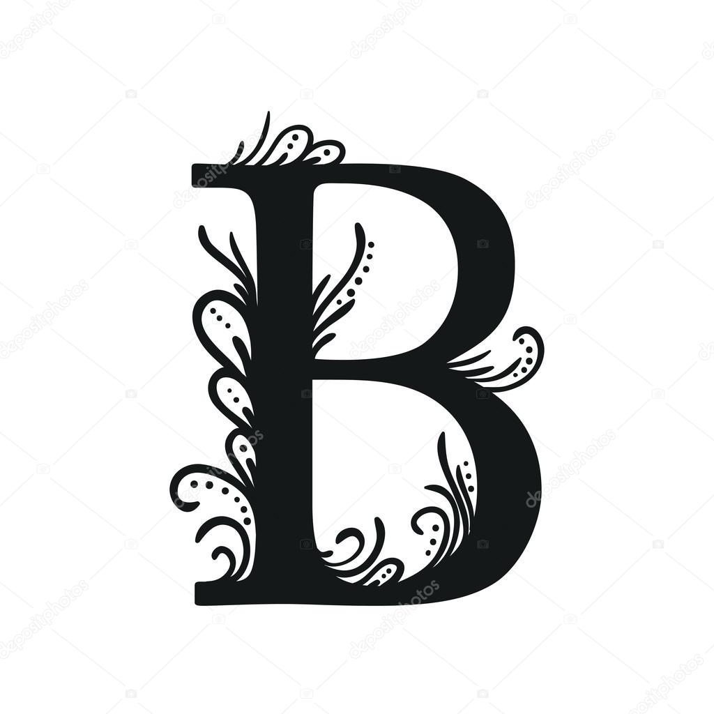 letter-b-tattoo-template-14-floral Tattoo Letter Template on sample request, basic cover, sample business,
