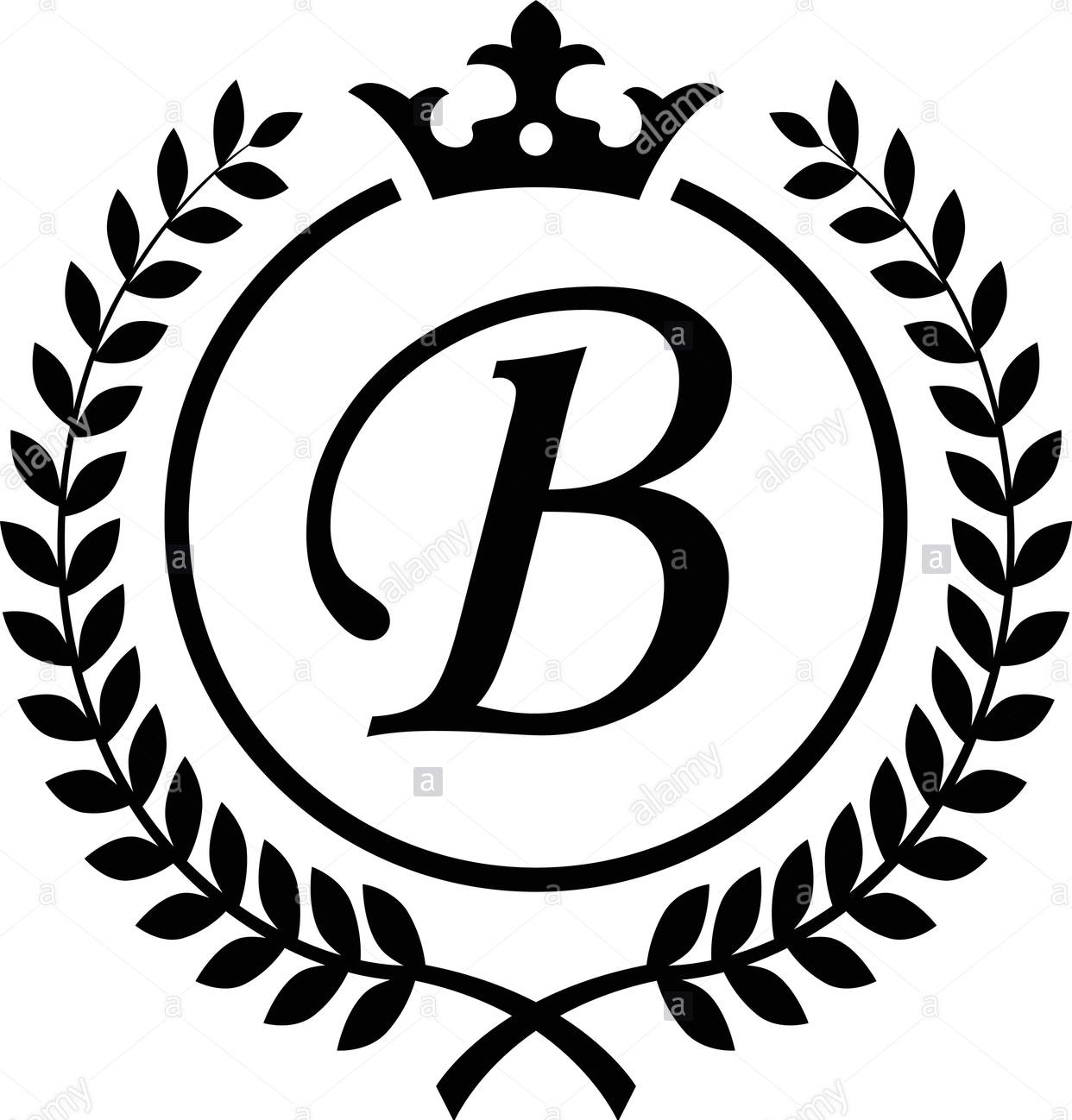 letter-b-tattoo-template-22-crown Tattoo Lettering Template on different fonts for, flash books, baby girl, last name,