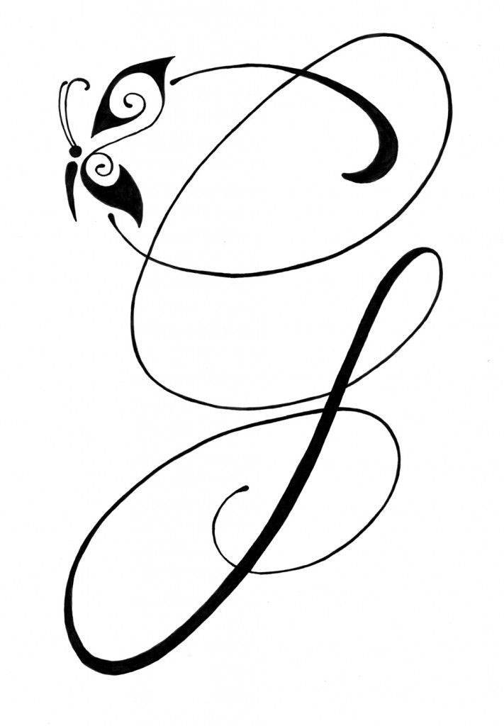 Letter-G-Tattoo-Template-00 Tattoo Designs Templates Letter J on lower case alphabet, logo design, jellyfish craft, cut out, jungle animal, printable juice,