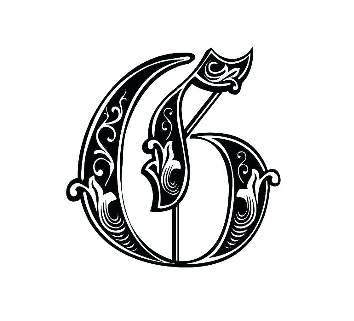Letter-G-Tattoo-Template-08 Tattoo Lettering Template on different fonts for, flash books, baby girl, last name,