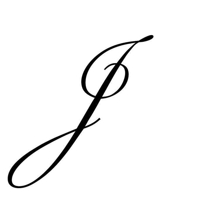 Letter-J-Tattoo-Template-04 Tattoo Designs Templates Letter J on lower case alphabet, logo design, jellyfish craft, cut out, jungle animal, printable juice,
