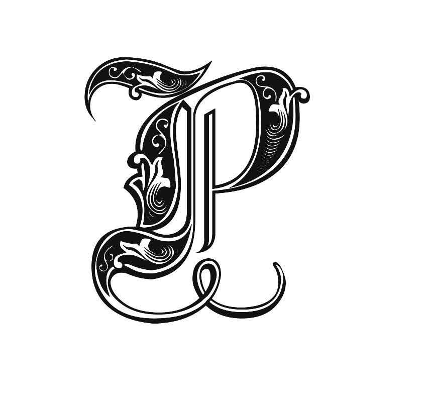 Tattoo Designs P Letter: 40 Letter P Tattoo Designs, Ideas And Templates