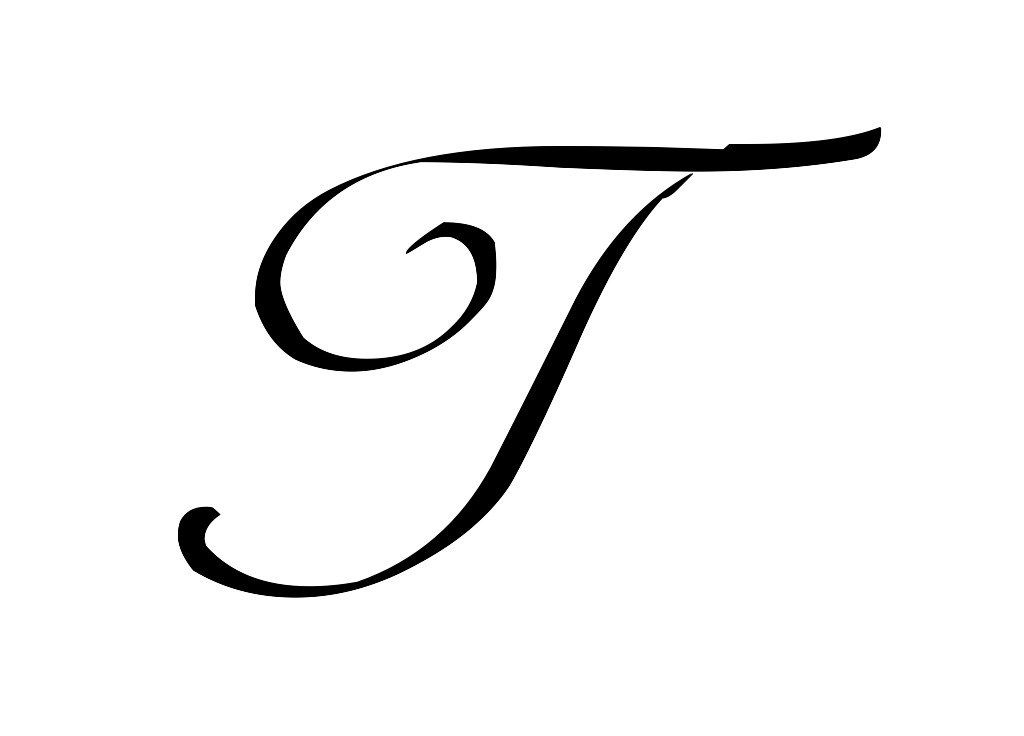 fancy letter t template  16 Letter T Tattoo Designs, Ideas and Templates - Tattoo Me Now