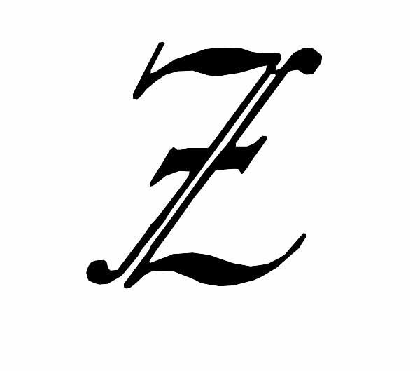 Letter-Z-Tattoo-Design-09 Tattoo Lettering Templates on last name, flash books, different fonts for, baby girl,