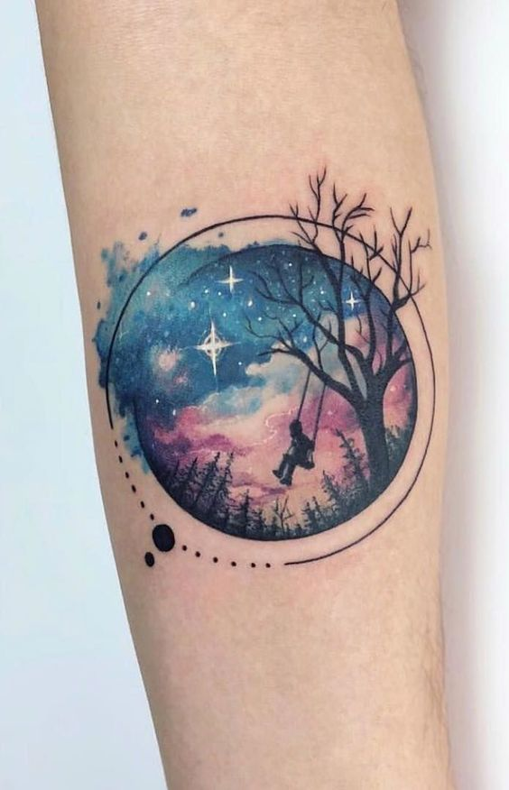 85 Space And Galaxy Tattoo Designs And Ideas Tattoos That Are From Outer Space Tattoo Me Now