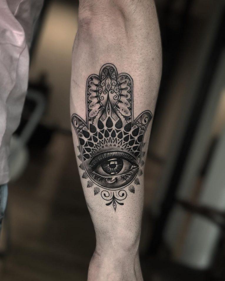 Männer fatima hand tattoo Tattos &