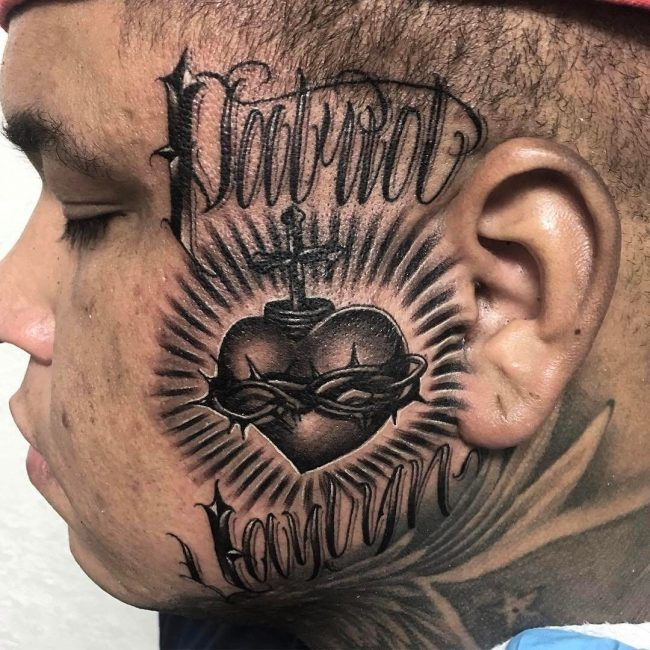 67f265cfde367 Sacred Heart Tattoos on Various Body Parts