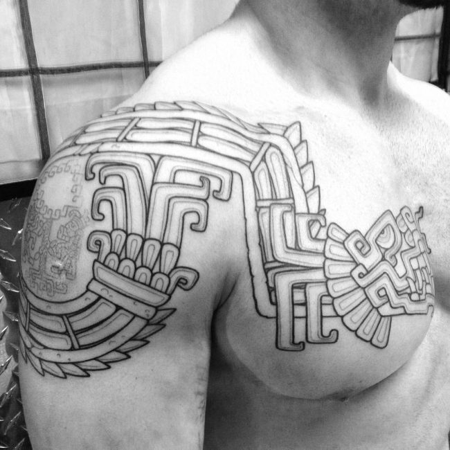9565dccd4 Bird Aztec Tattoos – Bird Aztec Tattoos would include the eagle and the  vulture. You could choose other birds, but these birds are gods, warriors  and are on ...
