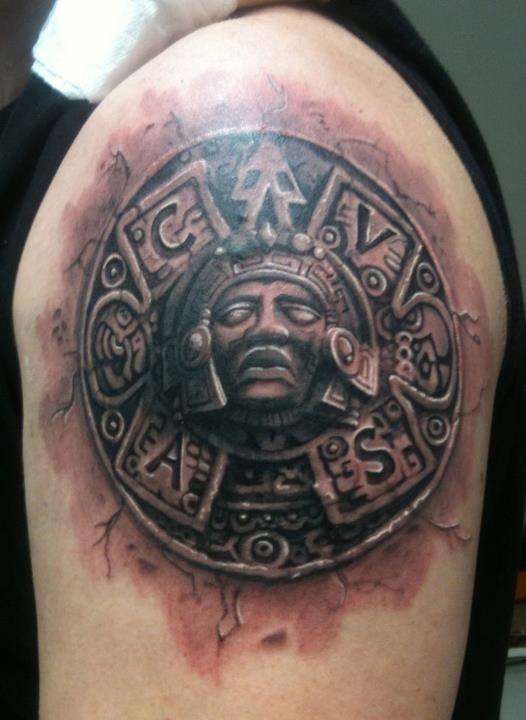 Aztec Tattoos Amp Symbols Cool Examples Designs Amp Their