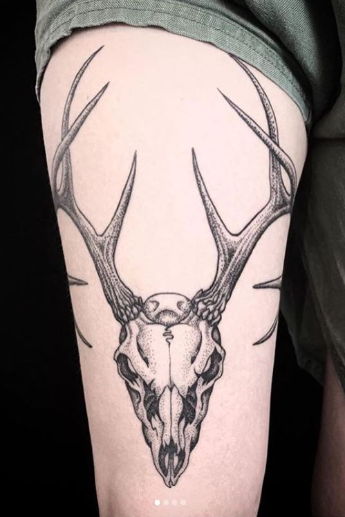 Deer Skull Tattoos Ideas Designs Meaning Tattoo Me Now