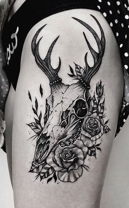 Deer Skull Tattoos - Ideas, Designs & Meaning - Tattoo Me Now