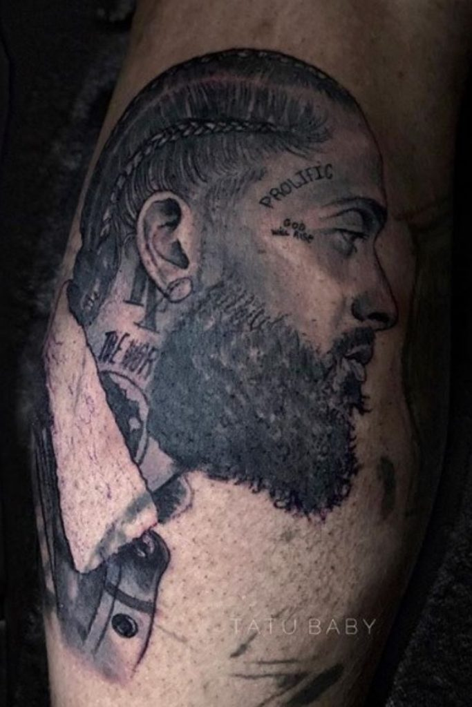 Meanings behind Nipsey Hussle's Tattoos (New Images) - Also
