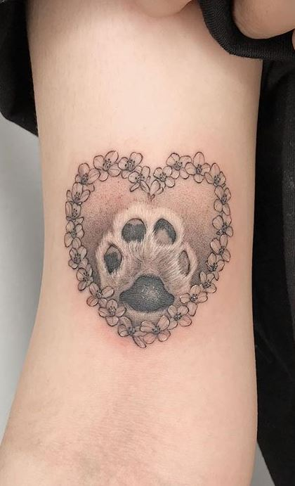 50 Adorable Dog Paw Tattoos And Ideas To Pay Homage To