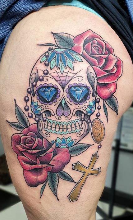 100 Unique Sugar Skull Tattoos Designs Ideas Tattoo Me Now