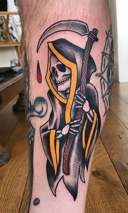 Grim Reaper Traditional Tattoo: 110 Unique Grim Reaper Tattoos You'll Need To See