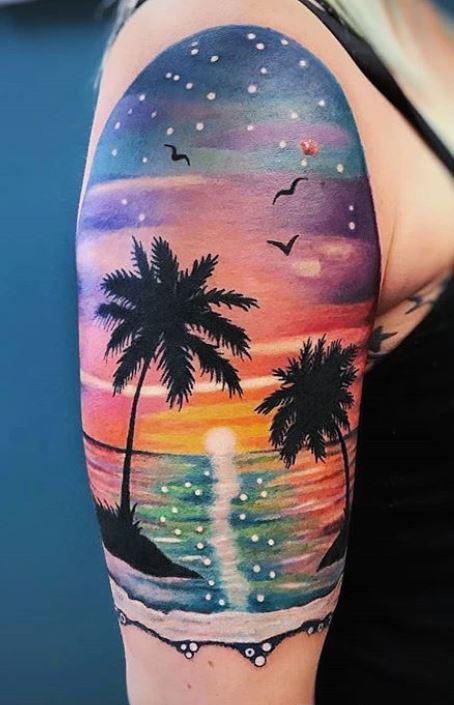 Palm Tree Tattoo Arm