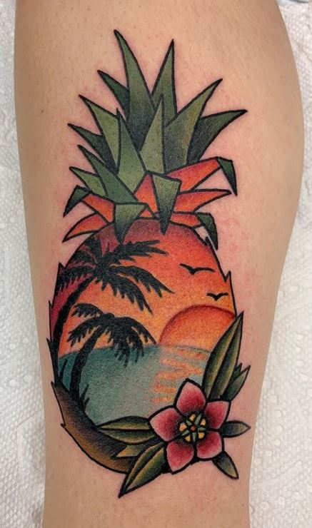 Traditional Palm Tree Tattoo