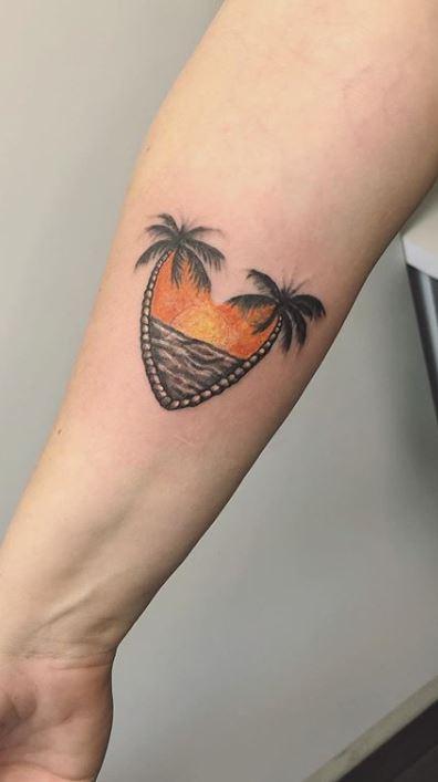 Palm Tree Tattoos Forearm