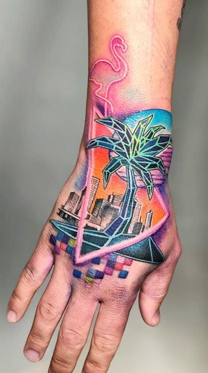 Palm Tree Tattoos hand