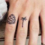 Palm Tree Tattoos Finger