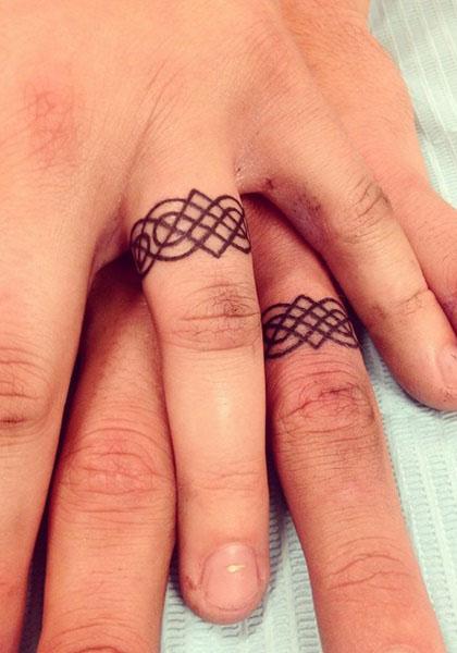 Irish Wedding Ring Tattoos: 100 Unique Wedding Ring Tattoos You'll Need To See