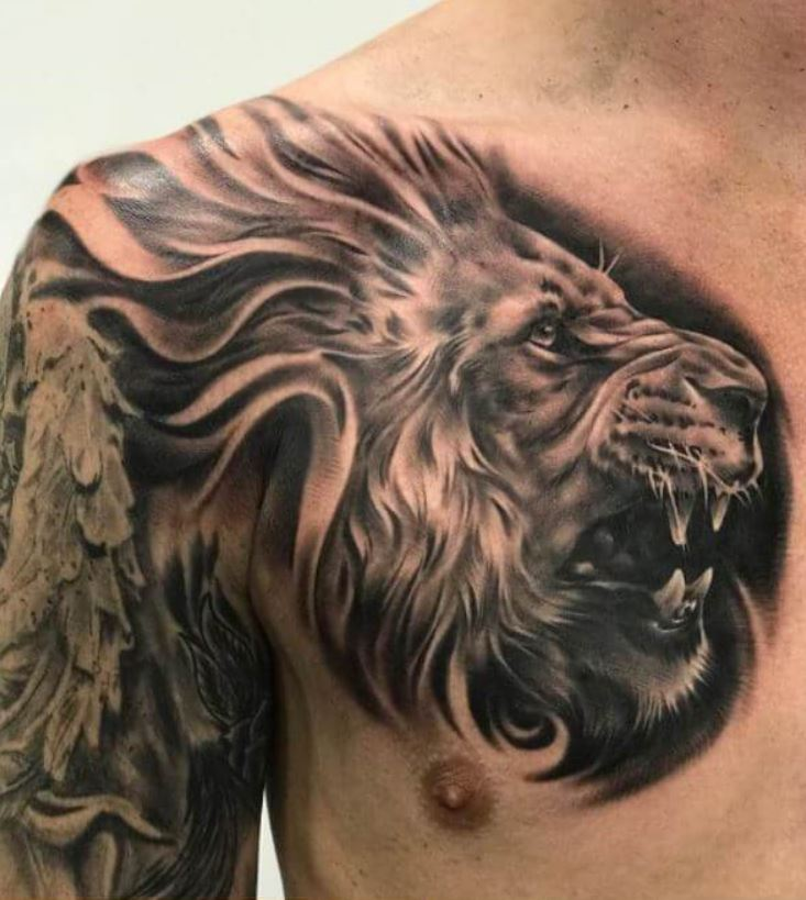 185 Trendy Chest Tattoos For Men Tattoo Me Now