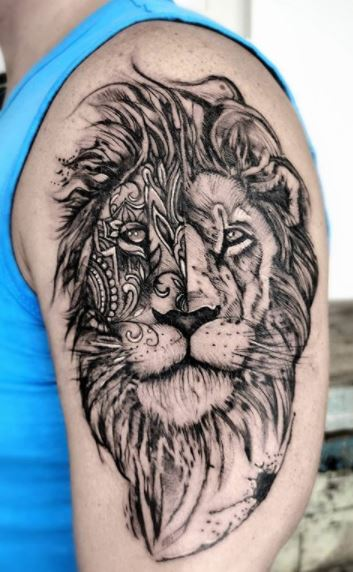 Lion Tattoos What S Their Meaning Plus Cool Examples Outline of a lion tattoo fabulous black outline leo sign lion tattoo. tattoo me now